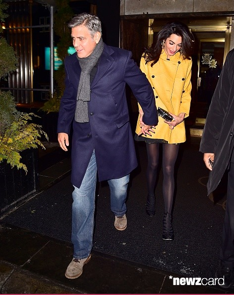 George Clooney and Amal out for dinner on the Upper East Side at Kappo Masa Ya10