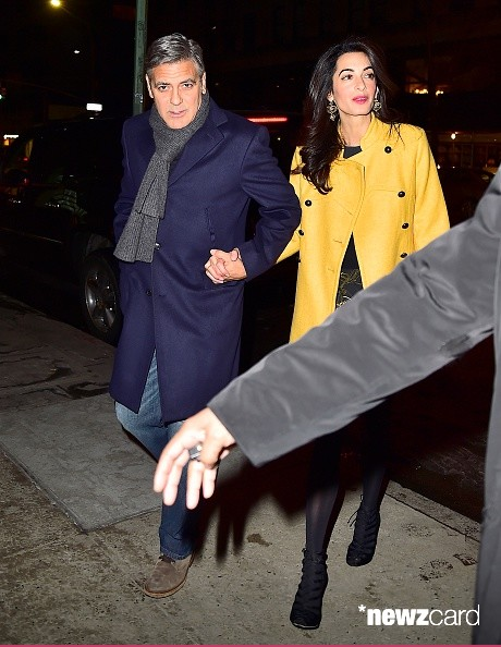 George Clooney and Amal out for dinner on the Upper East Side at Kappo Masa Ya310