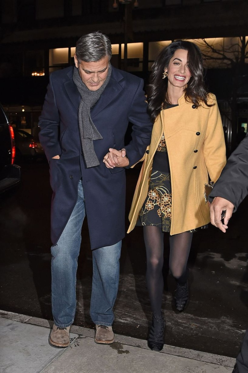 George Clooney and Amal out for dinner on the Upper East Side at Kappo Masa Ye210