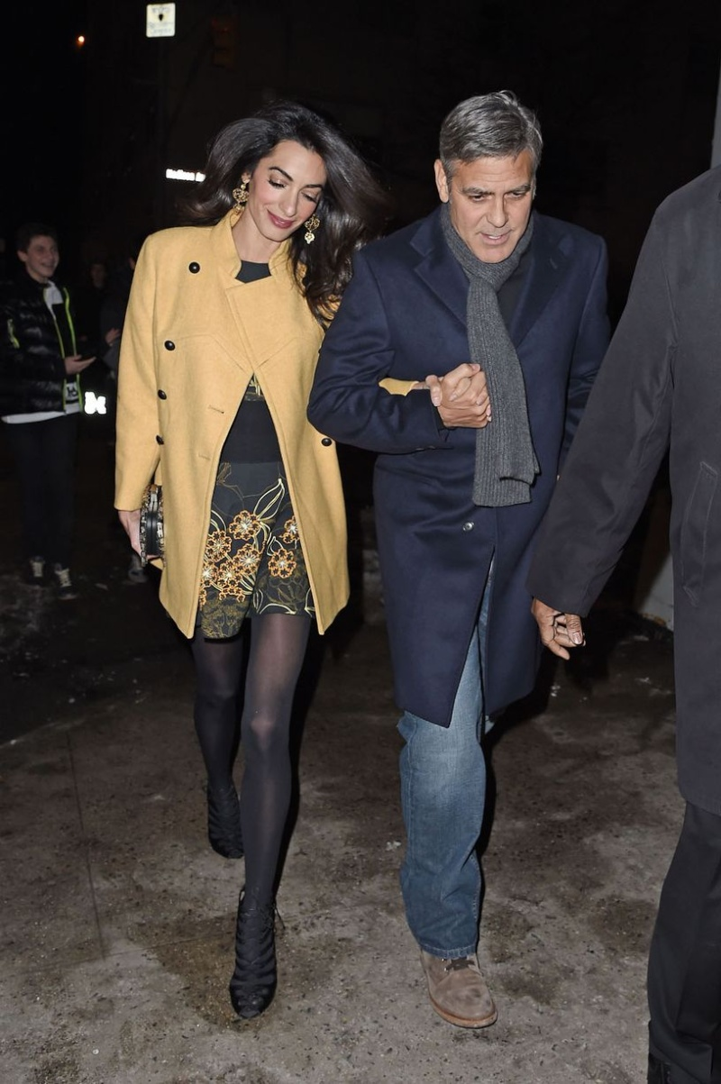 George Clooney and Amal out for dinner on the Upper East Side at Kappo Masa Ye310