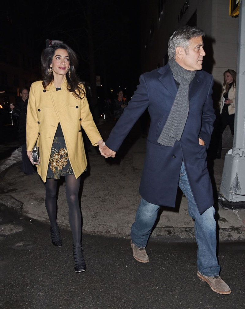 George Clooney and Amal out for dinner on the Upper East Side at Kappo Masa Ye410
