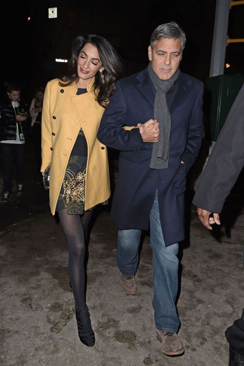George Clooney and Amal out for dinner on the Upper East Side at Kappo Masa Ye510