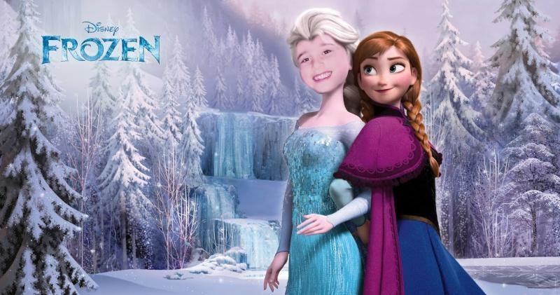 montage visage petite fille sur la reine des neiges ! 54736710
