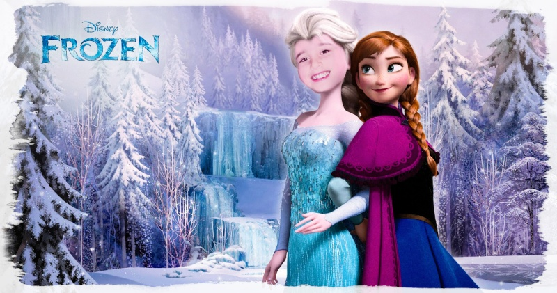 montage visage petite fille sur la reine des neiges ! 54736711