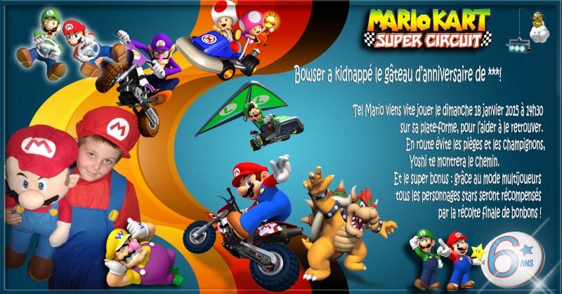 anniversaire de mon fils thème MARIO Mariok10