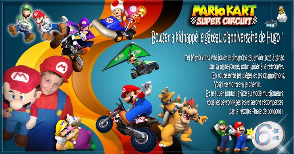 anniversaire de mon fils thème MARIO Mariok11