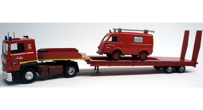 Renault R 385 Porte Engin + 1000Kg Sapeur Pompiers de Marboué 11529810