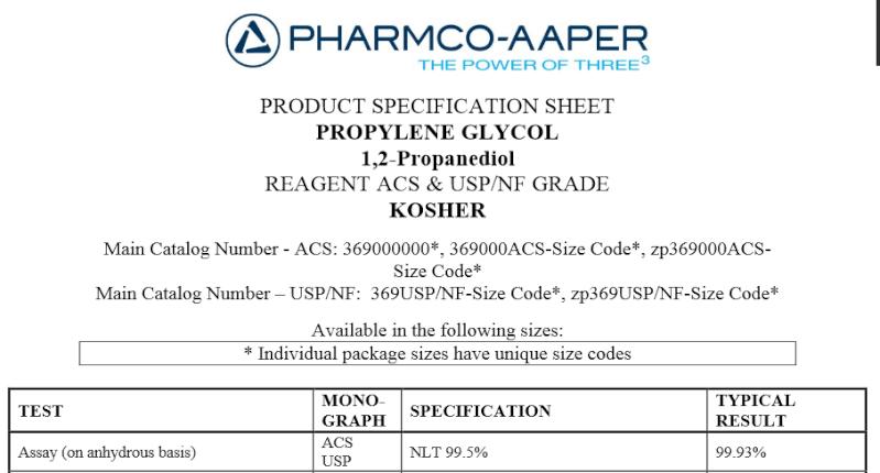 [Article - 26/02/15] Journal du vapoteur : Des explications sur le Propylène-Glycol Spec_p12