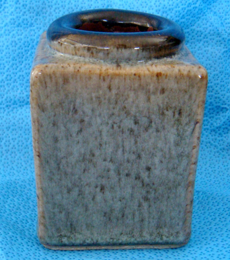Stunning square bottle vase - is Ian Webster Dsc06416