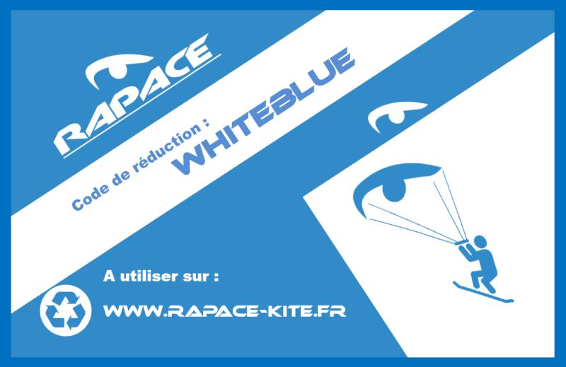 Code réduction rapace -10 %  + garantie accrocs: whiteblue  Code_r10