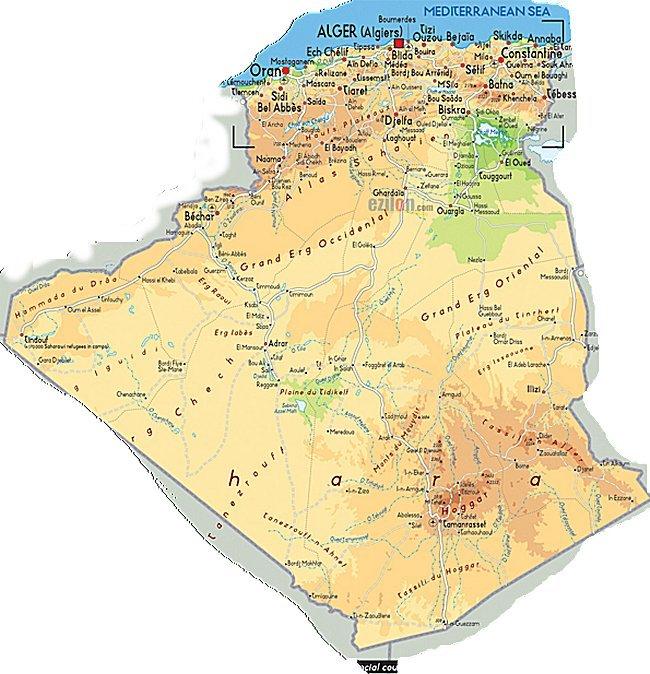 carte Algerie , map, circuit touristique Algeri10