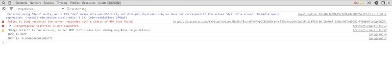 Converting Fahrenheit <-> Celsius Manually & w/ JavaScript Chrome10