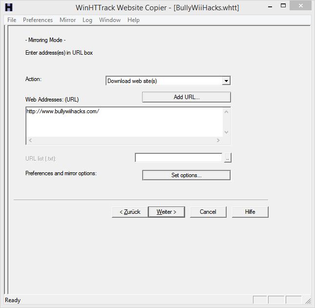 Website Mirroring/Backup Httrac12