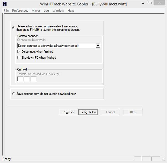 Website Mirroring/Backup Httrac14