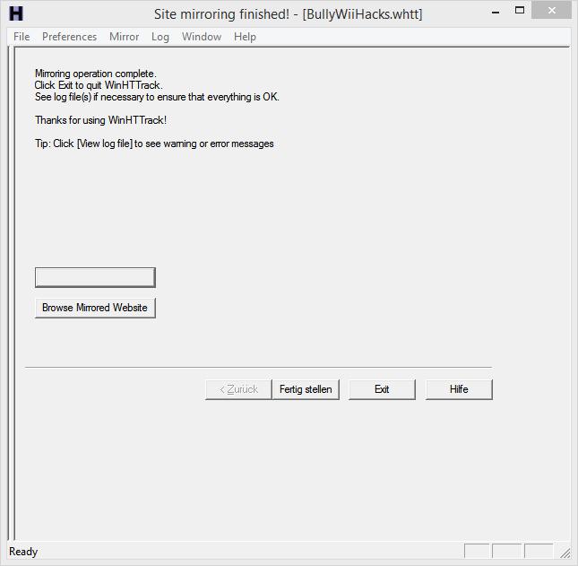 Website Mirroring/Backup Httrac18