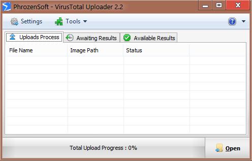 PhrozenSoft VirusTotal Uploader 2.2 Virust10