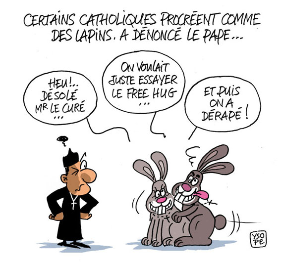 Actu en dessins de presse - Attention: Quelques minutes pour télécharger Cathol11