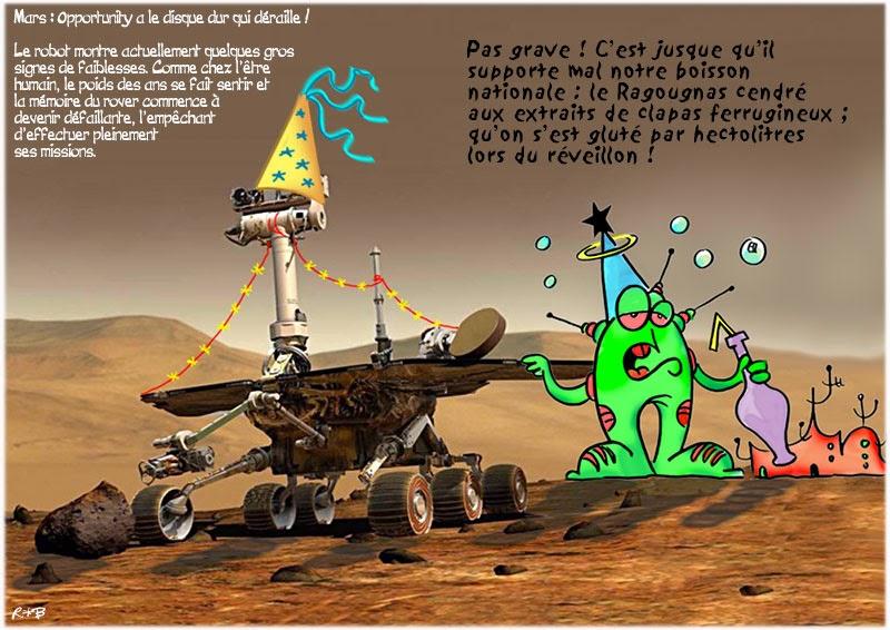 Actu en dessins de presse - Attention: Quelques minutes pour télécharger Mars-o11