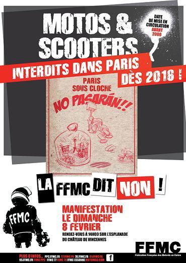Interdiction de circulation des motos agées dans Paris Affich10