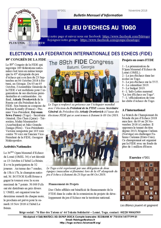 Le Bulletin Mensuel d'Information n° 001 nov 2018 Bmi_ft10