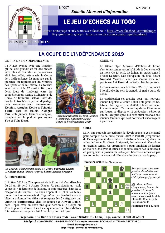 Le Bulletin Mensuel d'Information n° 007 mai 2019 Bmi_ft15