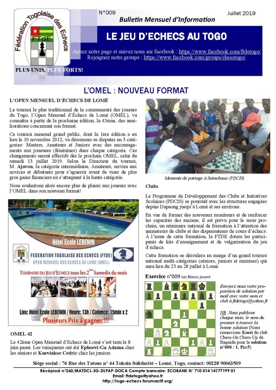 Le Bulletin Mensuel d'Information n° 009 juil 2019 Bmi_ft17