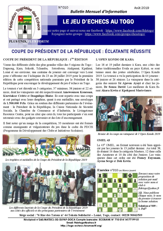 Le Bulletin Mensuel d'Information n° 010 août 2019 Bmi_ft18