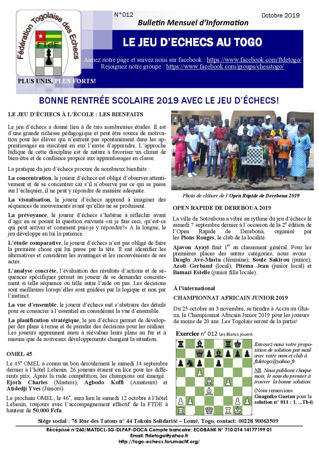 Le Bulletin Mensuel d'Information n° 012 oct 2019 Bmi_ft20
