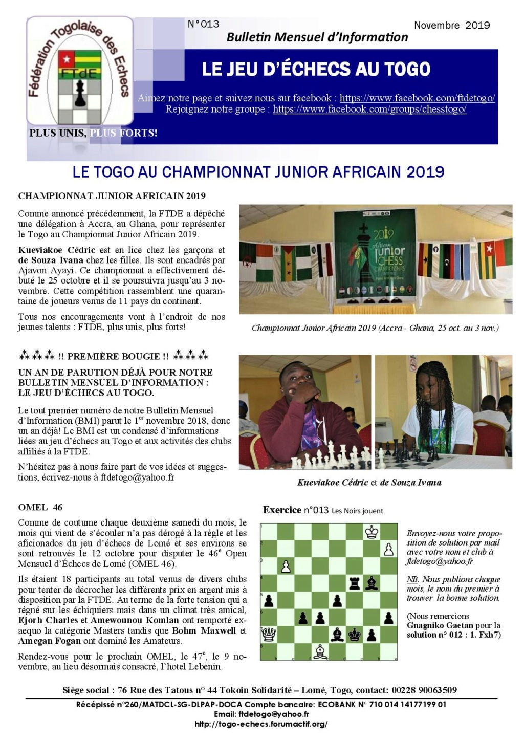 Le Bulletin Mensuel d'Information n° 013 nov 2019 Bmi_ft21