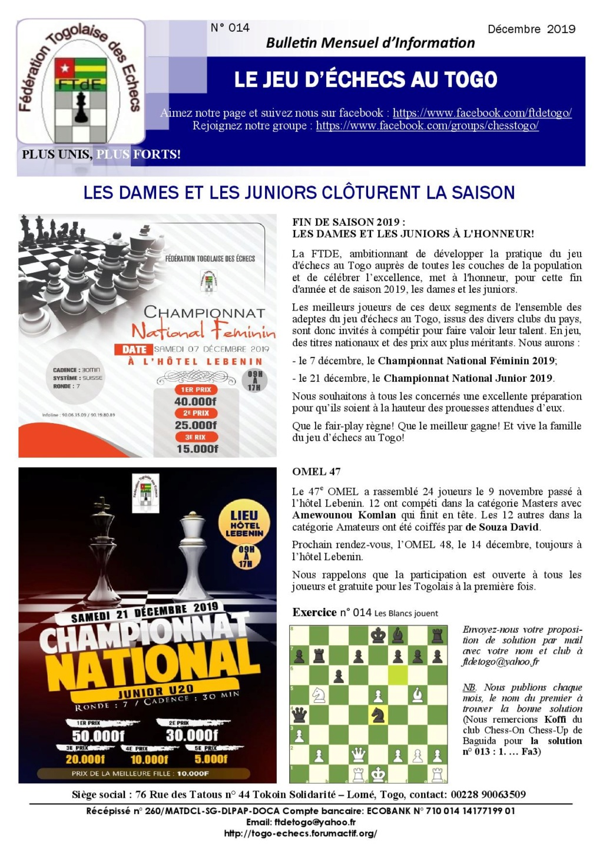 Le Bulletin Mensuel d'Information n° 014 dec 2019 Bmi_ft22