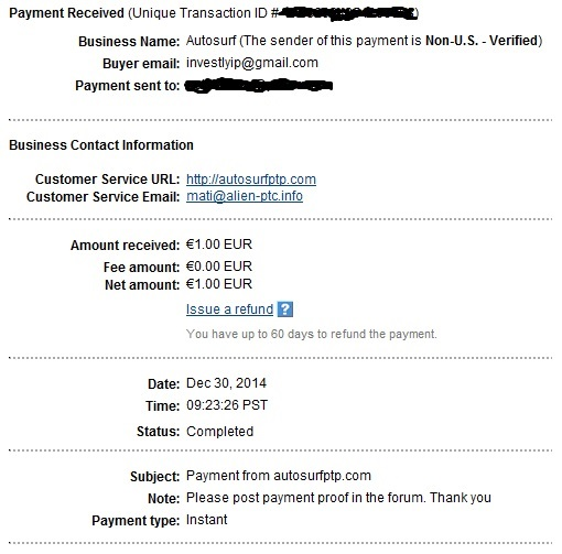 My payments Proof110
