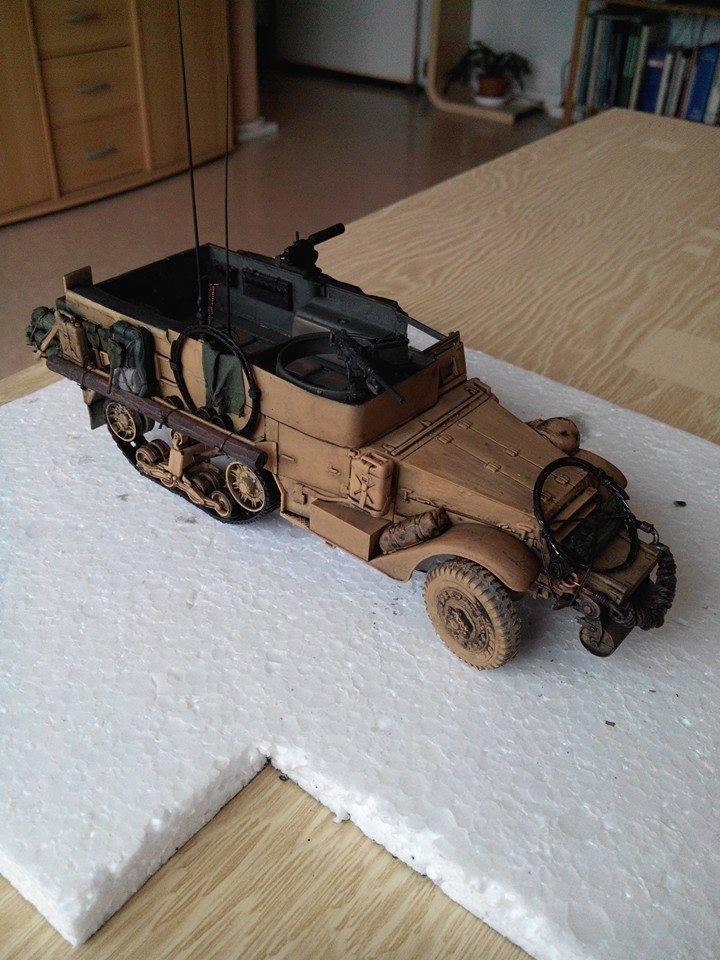 restauration half track us M4.kit tamyia 1/35.annee 1990. 10408510