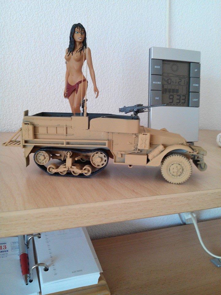 restauration half track us M4.kit tamyia 1/35.annee 1990. 10933710
