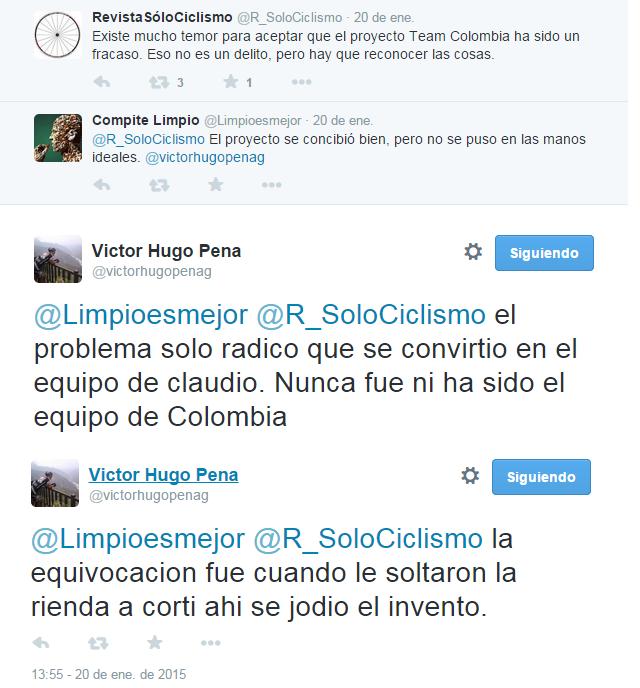 """¿El Team Colombia es realmente """"El equipo de Colombia""""? Peya_210"""