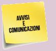 AVVISI E COMUNICAZIONI