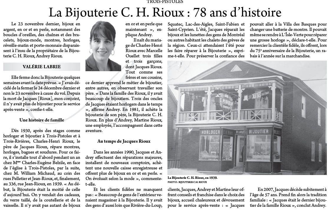 78 ans d'histoire Bijouterie C.-H. Rioux Trois-Pistoles La_bij10