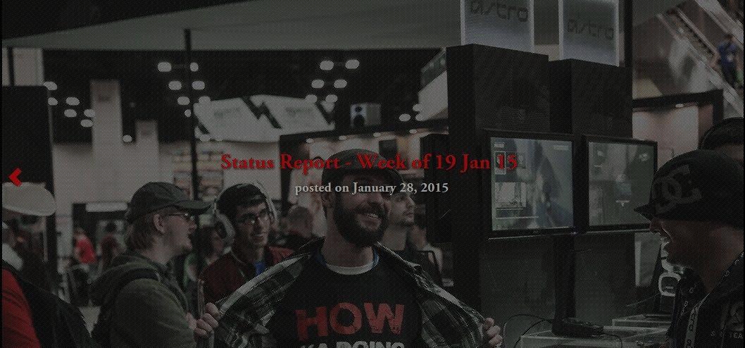 Status Report -  Semaine du 23 janvier 15 2510
