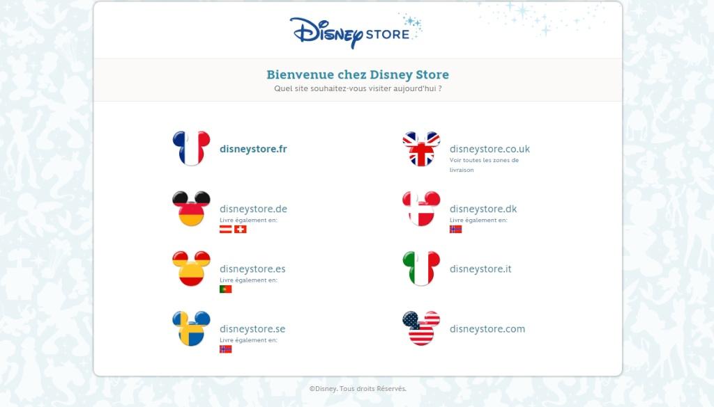 [Site Web - Boutiques] Disney Store US Disney12