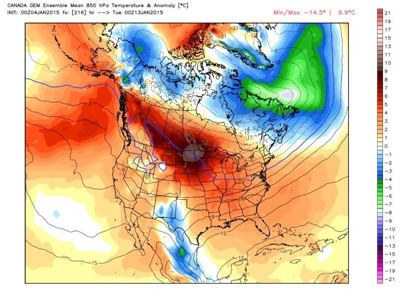 Ensemble Long Range Forecast Case Study #1 (500mb and 850mb) Cmc_t810