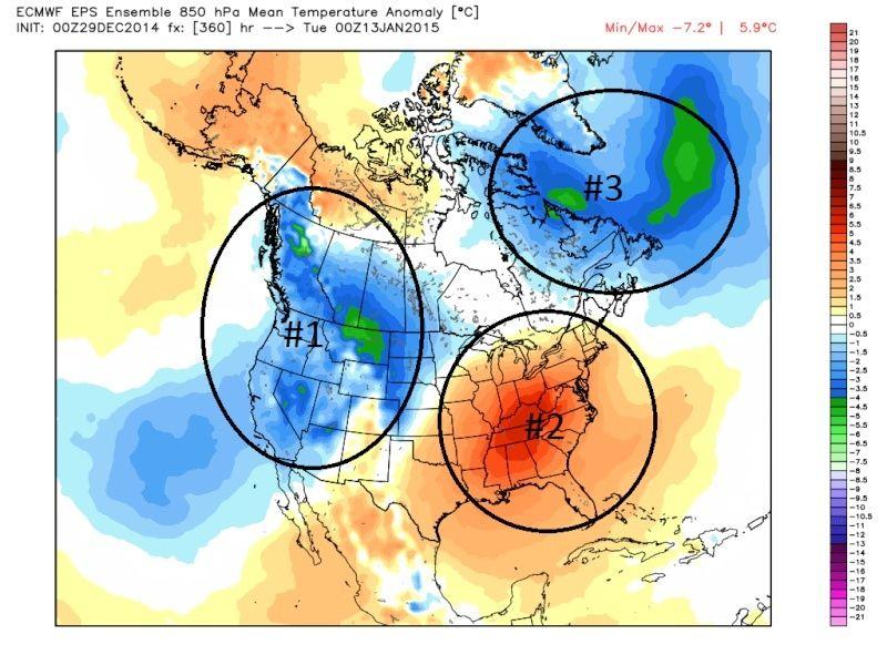 Ensemble Long Range Forecast Case Study #1 (500mb and 850mb) Dec29_10