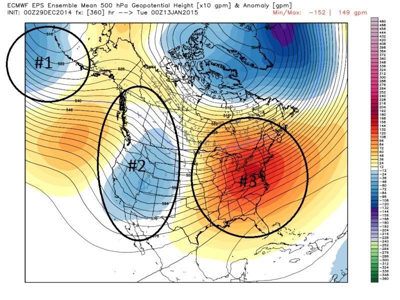 Ensemble Long Range Forecast Case Study #1 (500mb and 850mb) Dec_2910