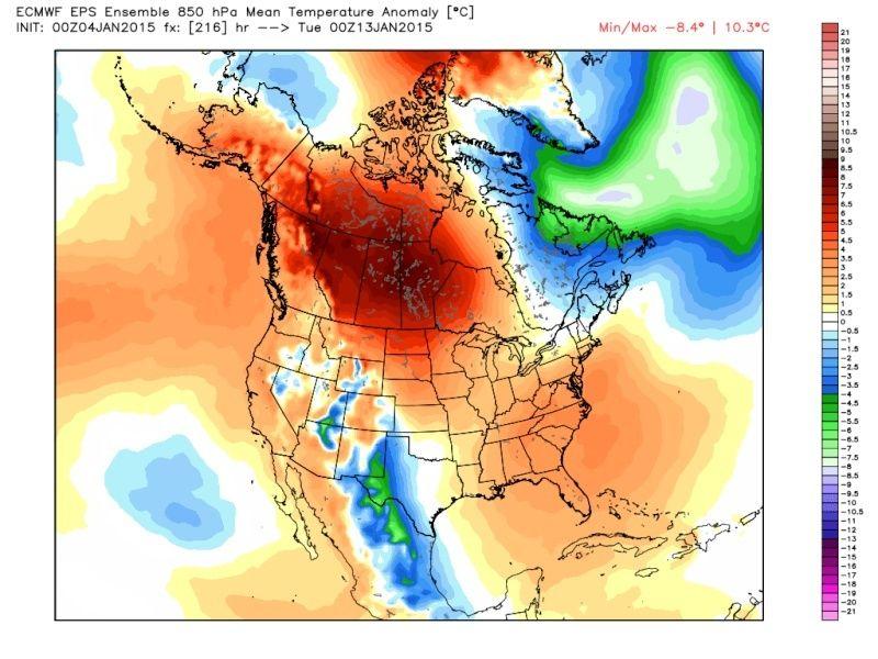 Ensemble Long Range Forecast Case Study #1 (500mb and 850mb) Eps_t810