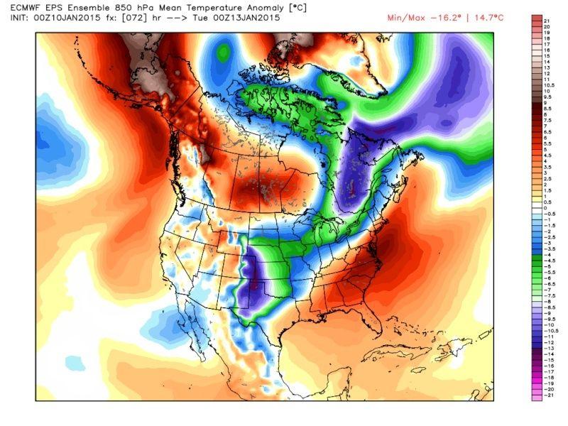 Ensemble Long Range Forecast Case Study #1 (500mb and 850mb) Eps_t812