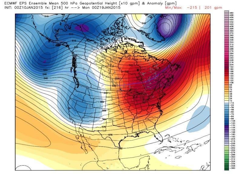 Ensemble Long Range Forecast Case Study #2 (500mb and 850mb) Eps_z513