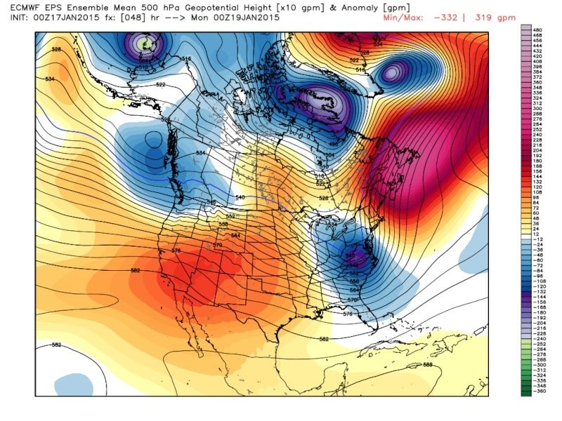 Ensemble Long Range Forecast Case Study #2 (500mb and 850mb) Eps_z515