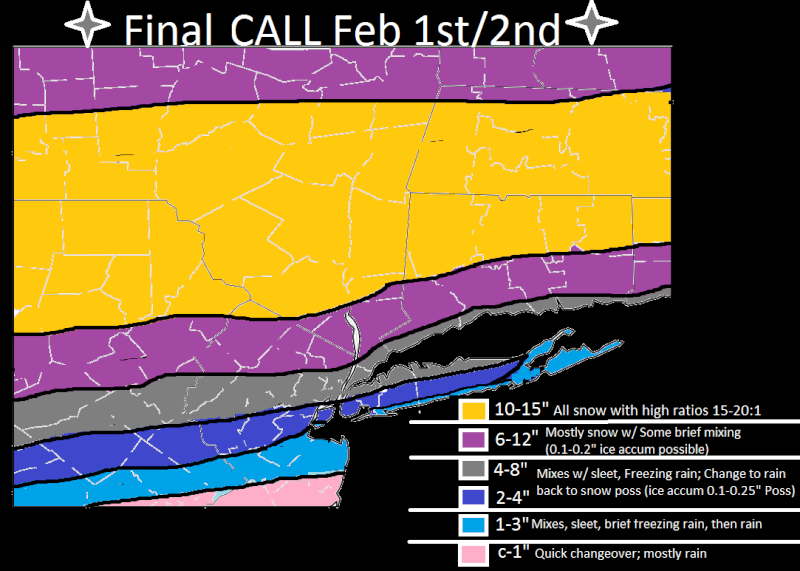 SNOW MAPS: FEB 1ST/2ND Feb_1s16