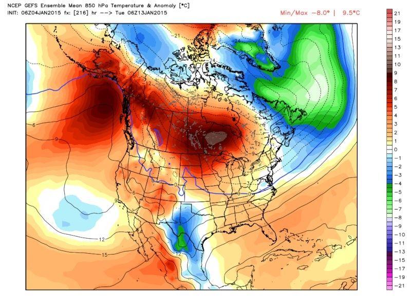 Ensemble Long Range Forecast Case Study #1 (500mb and 850mb) Gefs_t10
