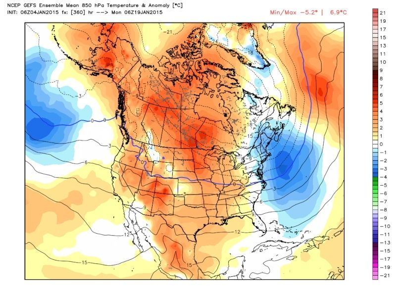 Ensemble Long Range Forecast Case Study #2 (500mb and 850mb) Gefs_t11