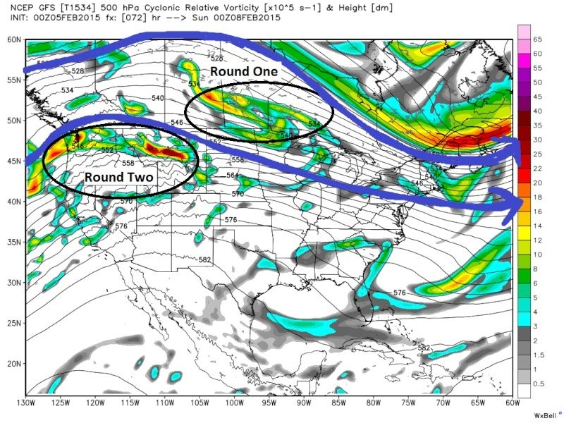 UPDATE #1: SUNDAY FEB 8TH-TUESDAY FEB 10TH STORM POTENTIAL Gfs_z512