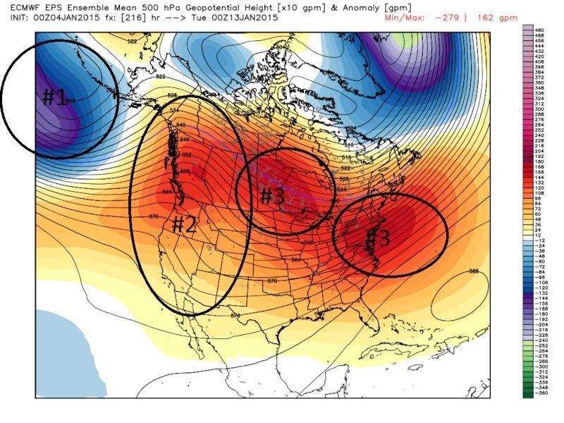 Ensemble Long Range Forecast Case Study #1 (500mb and 850mb) Jan4th10
